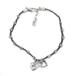Brighton Karma Heart Crystal Anklet Ankle Bracelet